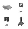 filter traffic sign and other monochrome icon in vector image vector image