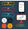 flat design icons of social office elements vector image