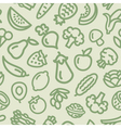 Fruits Vegetables pattern green vector image vector image