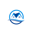 house realty roof construction logo vector image vector image
