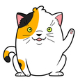 japanese cat luck vector image vector image
