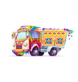 jingle truck indian or pakistan ornate transport vector image