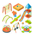 kids playground isometric pictures set vector image vector image
