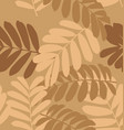 leaf pattern background4 vector image vector image