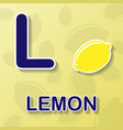 lemon alphabet background vector image vector image