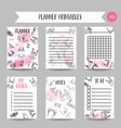 lingerie fashion bra and panties notes fashion vector image