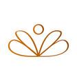 lotus flower outline vector image