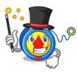 magician yoyo mascot cartoon style vector image vector image