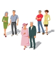 Married Couples Set vector image