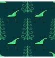 Moose wood ethnic ornament seamless pattern vector image