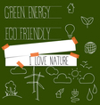 Nature banner with Ecology and environment Icons vector image vector image