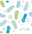 Nautical flip flops blue and green frame corner