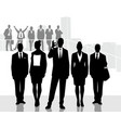 one of the business teams vector image vector image