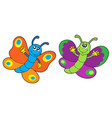 pair of funny butterflies vector image