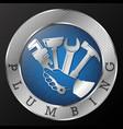 plumbing repair tool in hand symbol vector image vector image