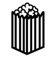 pop corn bowl icon vector image