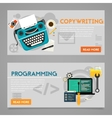 Programming and Copywriting Concept Banners vector image