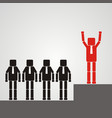 recruitment concept a worker with a square head vector image vector image