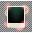 Retro photo frame on transparent background vector image