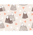 seamless pattern with mountains landscapeStylish vector image vector image
