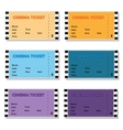 Set of Colored Cinema Ticket vector image vector image
