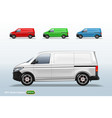 set of different color delivery van template vector image vector image