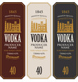 set vodka labels with image a distillery vector image vector image