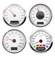 speedometers collection 3d speed gauges vector image