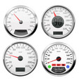 speedometers collection of 3d speed gauges with vector image vector image