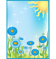summer field flowers vector image vector image