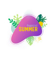 summer sale banner template tropical liquid shape vector image