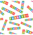 thank you colorful card seamless pattern vector image