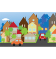 The street of a small town vector image vector image