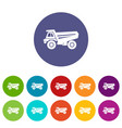 truck icon simple style vector image vector image