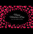 valentine s day heart love and feelings background vector image vector image