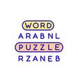 vocabulary games rgb color icon vector image