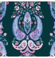 Watercolor Paisley Seamless Background Cold vector image vector image