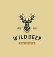 wild deer vintage logo design template vector image