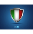 Italy shield on the blue background vector image