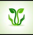 Save Nature concept with leaf vector image