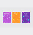 abstract poster set bright modern cover brochure vector image vector image