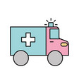 ambulance vehicle transport urgency help accident vector image vector image