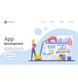 app development landing page template vector image