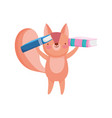 back to school education cute squirrel with two vector image vector image