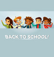back to school kids poster template vector image vector image