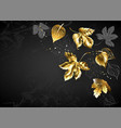 background with gold leaves vector image vector image