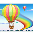 Balloons and rainbow vector image vector image