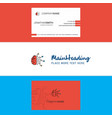beautiful neurons logo and business card vertical vector image
