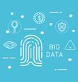 Big data set icons