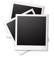 Blank photo frames vector image vector image
